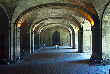 Portico in Palazzo della Pilotta, Parma, Emilia Romagna, Italy, Europe