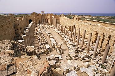 Justice basilica (Severan basilica), Leptis Magna, UNESCO World Heritage Site, Libya, North Africa, Africa