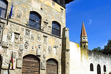Palazzo Pretorio and Dome's Belltower, Arezzo, Tuscany, Italy, Europe