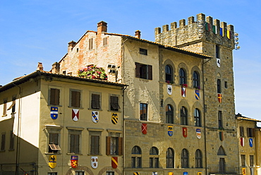 Piazza Vasari, Arezzo, Tuscany, Italy, Europe