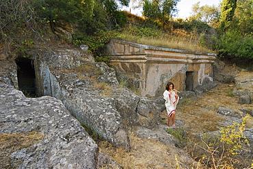 Etruscan Necropolis of the Peschiera, Tuscania, Viterbo, Latium, Italy, Europe