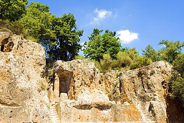 Ildebranda Tomb, Etruscan Necropolis of Sovana, Sovana, Grosseto, Tuscany, Italy, Europe