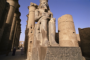 Statue of the pharaoh Ramses II, Luxor Temple, Thebes, UNESCO World Heritage Site, Egypt, North Africa, Africa