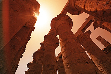 Hypostyle hall, Temple of Karnak, Thebes, UNESCO World Heritage Site, Egypt, North Africa, Africa