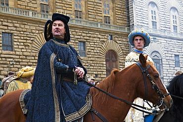 Medieval parade of Cavalcata dei Magi, Florence (Firenze), Tuscany, Italy, Europe
