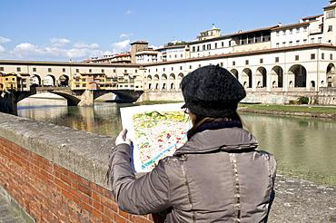 Ponte Vecchio, Florence (Firenze), UNESCO World Heritage Site, Tuscany, Italy, Europe