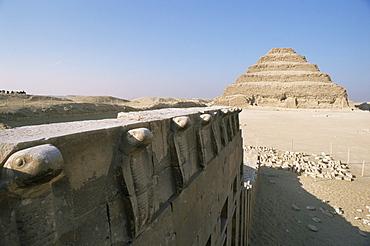 The Step Pyramid of Zoser, Saqqara (Sakkara), UNESCO World Heritage Site, Egypt, North Africa, Africa