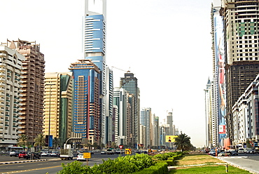 Buildings in E11 or Sheikh Zayed Road, Dubai, United Arab Emirates, Middle East