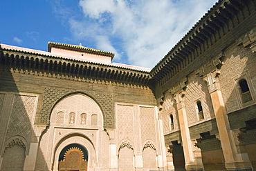 Ben Youssef Medersa (Koranic School), UNESCO World Heritage Site, Marrakech (Marrakesh), Morocco, North Africa, Africa