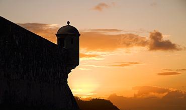 Sunset, Fort San Felipe, Puerto Plata, Dominican Republic, West Indies, Caribbean, Central America