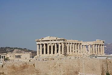 The Parthenon temple and Acropolis, UNESCO World Heritage Site, Athens, Greece, Europe