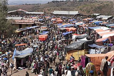 The market of Lalibela, Amhara region, Ethiopia, Africa