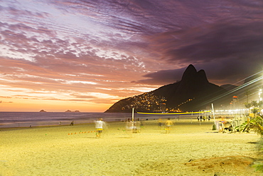 Sunset, Ipanema Beach, Rio de Janeiro, Brazil, South America
