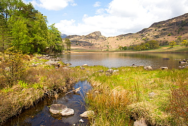 Blea Tarn, Little Langdale, The Lake District, UNESCO World Heritage Site, Cumbria, England, United Kingdom, Europe