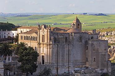 Sant'Agostino Convent in the Sassi area of Matera, Basilicata, Italy, Europe