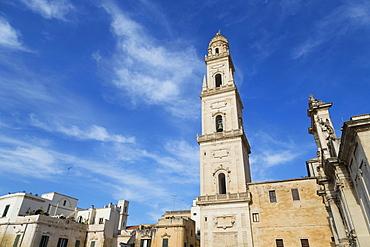 Camplonile and Cattedrale di Santa Maria Assunta in the baroque city of Lecce, Puglia, Italy, Europe