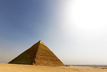 The Pyramid of Khafre in Giza, UNESCO World Heritage Site, near Cairo, Egypt, North Africa, Africa