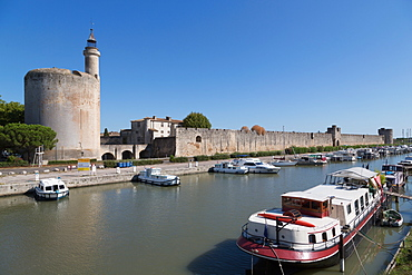 Tour de Constance, historic tower in the Camargue town of Aigues-Mortes, Gard, Languedoc-Roussillon, France, Europe