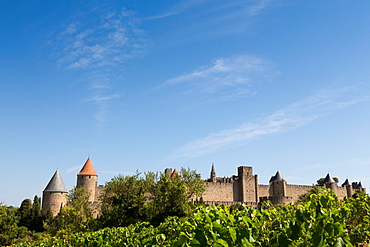 The medieval walled town of Carcassonne, UNESCO World Heritage Site, Languedoc-Roussillon, France, Europe