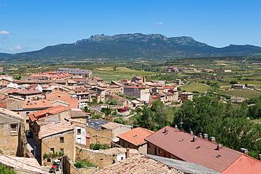 Rooftops in San Vicente de la Sonsierra, La Rioja, Spain, Europe