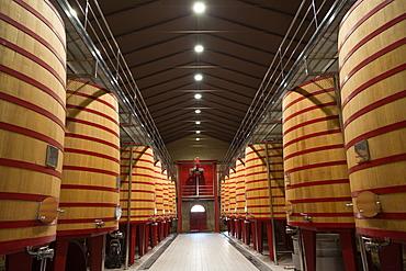 Wine vats in a bodega in Rioja, Spain, Europe