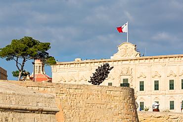 Auberge Castille Museum in old town Valletta, UNESCO World Heritage Site and European Capital of Culture 2018, Malta, Mediterranean, Europe