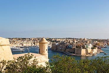 The Grand Harbour in Valletta, UNESCO World Heritage Site and European Capital of Culture 2018, Valletta, Malta, Mediterranean, Europe