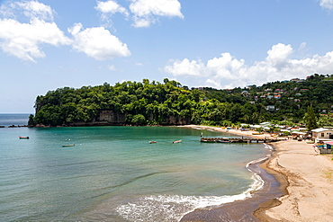 The beach at Anse la Raye, St. Lucia, Windward Islands, West Indies Caribbean, Central America