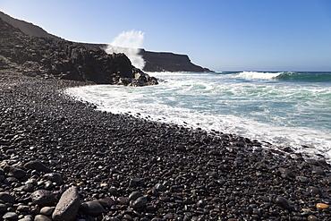 Playa Puertito de Los Molinos on the volcanic island of Fuerteventura, Canary Islands, Spain, Atlantic, Europe