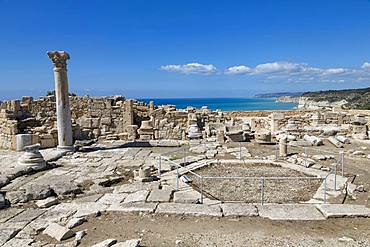 The Roman Nymphaeum in Kourion Archaeological Site in southern Cyprus, Mediterranean, Europe