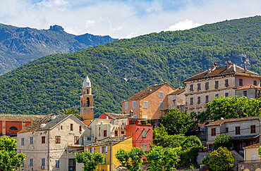 The historic hill village of Nonza on Cap Corse, the most northerly point of Corsica