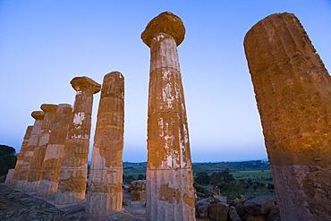 Temple of Heracles, Valley of the Temples (Valle dei Templi), UNESCO World Heritage Site, Agrigento, Sicily, Italy, Europe