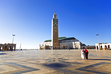 Hassan II Mosque, the third largest mosque in the world, Casablanca, Morocco, North Africa, Africa