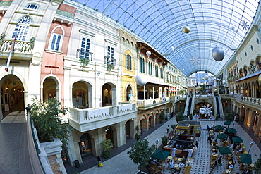 Interior of Mercato Mall, Jumeirah, Dubai, United Arab Emirates, Middle East
