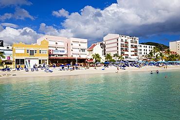 The Dutch capital of Philipsburg, St. Maarten, Netherlands Antilles, Leeward Islands, West Indies, Caribbean, Central America