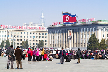 Kim Il Sung Square, Pyongyang, Democratic People's Republic of Korea (DPRK), North Korea, Asia