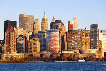 Downtown Manhattan across the Hudson River, New York, United States of America, North America