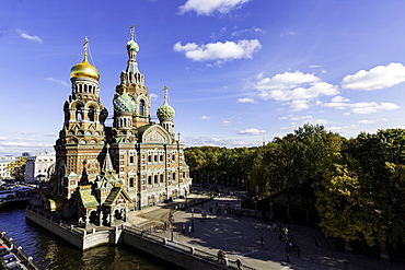 Domes of Church of the Saviour on Spilled Blood, UNESCO World Heritage Site, St. Petersburg, Russia, Europe