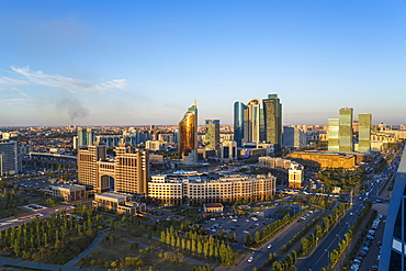 The city center and central business district, Astana, Kazakhstan, Central Asia