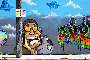 Graffiti street art in the Wynwood Art District of Miami, Florida, United States of America, North America