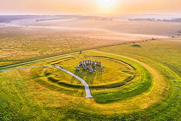 Stonehenge, UNESCO World Heritage Site, Salisbury Plain, Wiltshire, England, United Kingdom, Europe