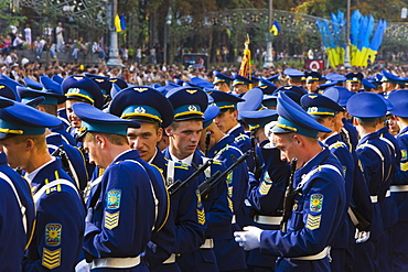 Annual Independence Day parade along Khreshchatyk Street and Maidan Nezalezhnosti (Independence Square), Kiev, Ukraine, Europe