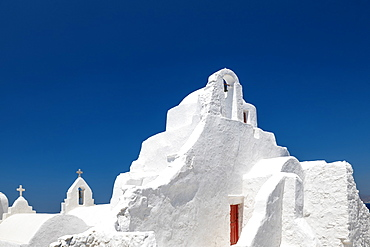 Panagia Paraportian chapel, Mykonos Town, Mykonos, Cyclades Islands, Greek Islands, Greece, Europe