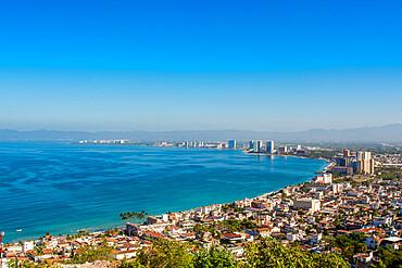 Skyline of Puerto Vallarta, Jalisco, Mexico.