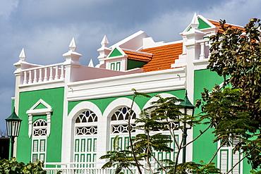 Architecture, buildings, Oranjestad, Aruba, ABC Islands, Dutch Antilles, Caribbean, Central America