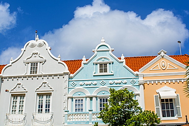 Architecture, detail of buildings, Oranjestad, Aruba, ABC Islands, Dutch Antilles, Caribbean, Central America