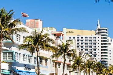 Art Deco architecture in South Beach district, Miami, Florida, United States of America, North America