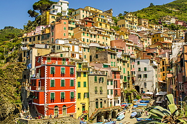 Riomaggiore, Cinque Terre, UNESCO World Heritage Site, Liguria, Italy, Europe