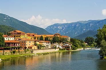 River Brenta, Bassano del Grappa, Veneto region, Italy, Europe
