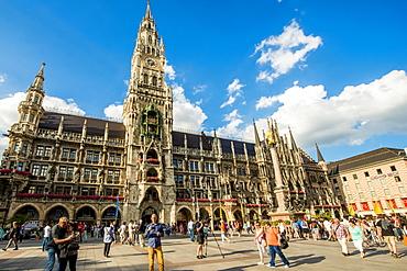 New Town Hall on the Marienplatz (Mary's Square), Munich, Bavaria, Germany, Europe